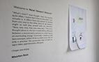 展示に入る前に掲示されているマールテン・バースからのメッセージ。