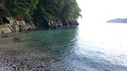 波田浜の入江