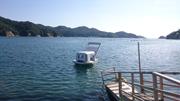 鈴木康広の「ファスナーの船(足漕ぎボート)」