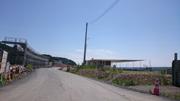防潮堤を兼ねた道路が建設中
